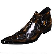 男性用 靴 レザー 春 / 秋 コンフォートシューズ / アイデア オックスフォードシューズ ウォーキング Brown / レッド / 結婚式 / パーティー