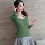 2017年春モデルは、薄いセーターの女性をヘッジバッククロスストラップVネックのセーターをセクシー