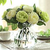 12 ブランチ バラ テーブルトップフラワー 人工花