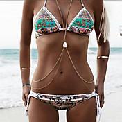 Women's Boho Halter Triangle Bikini - Flo...