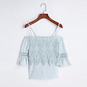 レディース お出かけ 春 夏 シャツ,シンプル ボートネック ソリッド コットン 半袖