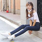 615#記号駆動素子足スプリング2017の細いウエストデニムパンツ女性のストレッチ鉛筆韓国語バージョンでした