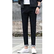 カジュアルなジーンズの新しい男性9ポイントのジーンズ韓国語バージョン男性の野生のスリムパンツの足9つのパンツ