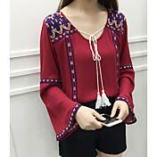17新しい国の風刺繍綿包帯ルーズホーンスリーブ日焼け防止服の女性