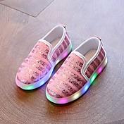 Zapatos Tela Primavera Verano Otoño Zapatos con luz Confort Primeros Pasos Zapatillas de deporte Paseo LED Para Deportivo Casual Dorado