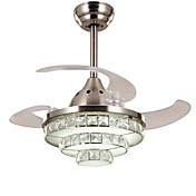 Moderno/Contemporáneo Cristal Regulable LED Regulable con control remoto Ventilador de techo Luz Ambiente Para Sala de estar Dormitorio