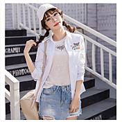 2017年春に新しい小さな新鮮な刺繍の綿のシャツ女性の品質保証に署名