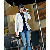 Mujer Clásico Uso Diario Calle Cita Primavera Otoño Blazer,Escote en Pico Color sólido Manga Larga N/A Regular