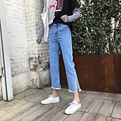 2017新しい女性の野生の9ポイントのジーンズに署名緩いズボンファッションの個性分割