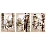 キャンバス地プリント 名画 抽象的な風景画 近代の リアリズム, 3枚 キャンバス 横式 プリント 壁の装飾 ホームデコレーション