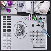 印刷シリコーンマットネイルアートマニキュアツールキットメイク化粧品ネイルアートDIY