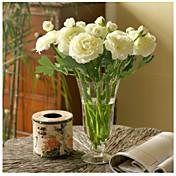 10 Rama Seda Peonías Flor de Mesa Flores Artificiales