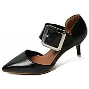 Mujer Sandalias Confort PU Verano Confort Tacón Stiletto Blanco Negro Amarillo 7'5 - 9'5 cms