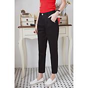 Mujer Casual Tiro Medio Microelástico Pantalones Harén Chinos Pantalones,Un Color Primavera Verano Otoño