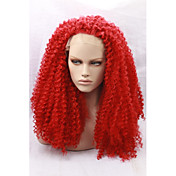 Mujer Peluca Lace Front Sintéticas Medio Marino Rojo Entradas Naturales Peluca natural Pelucas para Disfraz