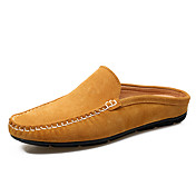 Hombre-Tacón Plano-Confort-Zuecos y pantuflas-Exterior Oficina y Trabajo Informal-Ante-