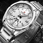 Hombre Reloj de Pulsera Reloj Militar Reloj de Moda Reloj Deportivo Japonés Cuarzo Resistente al Agua Esfera Grande Punk Acero Inoxidable