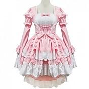 Amaloli Princesa Mujer Chica Una Sola Pieza Vestidos Cosplay Casquillo Manga Larga Corta / Mini