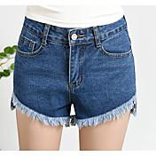 レディース ストリートファッション ハイライズ スリム strenchy ショーツ パンツ ソリッド