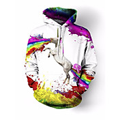 レディース カジュアル/普段着 パーカー ソリッド ラウンドネック マイクロエラスティック コットン 七分袖 春、夏、秋、冬