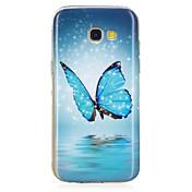 Funda Para Samsung Galaxy A5(2017) A3(2017) Fosforescente Diseños Cubierta Trasera Mariposa Suave TPU para A3 (2017) A5 (2017) A5(2016)