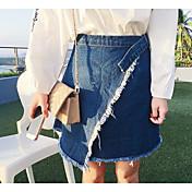 レディース Aライン カジュアル/普段着 膝丈 スカート ゼブラプリント 夏