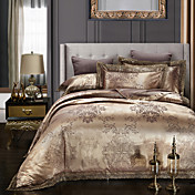 Duvet Cover Sets Floral Tencel Embroidery...