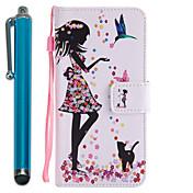 Funda Para Samsung Galaxy J7 Prime J5 Prime Cartera Soporte de Coche con Soporte Flip Diseños Cuerpo Entero Chica Sexy Dura Cuero