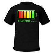 LED Tシャツ コットン100% 2×単四電池