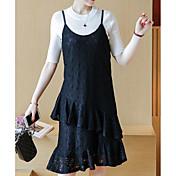 レディース カジュアル/普段着 春 Tシャツ(21) ドレス スーツ,シンプル ラウンドネック ゼブラプリント 半袖