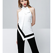 レディース ワーク 春 Tシャツ(21) パンツ スーツ,シンプル ラウンドネック ゼブラプリント 半袖