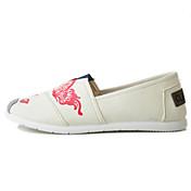 Mujer Zapatos de taco bajo y Slip-Ons Confort Suelas con luz Tejido Temporadas Cruzadas Primavera Diario Casual PaseoConfort Suelas con