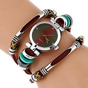 Mujer Reloj de Moda Reloj de Pulsera Reloj Pulsera Reloj creativo único Chino Cuarzo La imitación de diamante Cuero Auténtico Banda