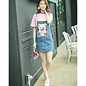 レディース カジュアル 夏 Tシャツ(21) ドレス スーツ,シンプル ラウンドネック 仕様 半袖 マイクロエラスティック