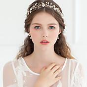 Cristal Perla Artificial Brillante Tiaras Bandas de cabeza Flores Celada