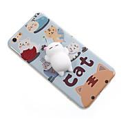 用途 ケース カバー パターン DIY スクイジー バックカバー ケース 猫 カートゥン ソフト TPU のために Apple iPhone 7プラス iPhone 7 iPhone 6 Plus iPhone 6s iphone 6