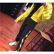 Mujer Casual Deportes Casual/Diario Primavera Otoño Sudadera Pantalón Trajes,Con Capucha Un Color Mangas largas 100% Algodón