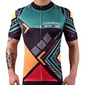Maillot de Ciclismo Hombre Mujer Manga Corta Bicicleta Camiseta/Maillot Top Secado rápido Reduce la Irritación Alta elasticidad Ligeras