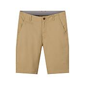 メンズ シンプル ミッドライズ ストレート 非弾性 ストレート ショーツ パンツ 純色 ソリッド