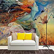 アールデコ調 スペシャルデザイン キャラクター ホームのための壁紙 現代風 ウォールカバーリング , キャンバス 材料 接着剤必要 壁画 , ルームWallcovering