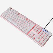 ajazz 103keysティー軸USBバックライトゲームキーボードモノクロ160cmケーブル