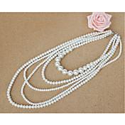 女性用 レイヤードネックレス 人造真珠 人造真珠 ジュエリー 用途 結婚式 パーティー 誕生日