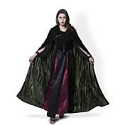 Bruja Abrigo / Disfrace de Cosplay / Capa Hombre / Mujer Navidad / Halloween / Carnaval Festival / Celebración Disfraces de Halloween Negro No Especificado