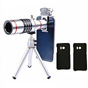 Lingwei 18x zoom samsung cámara teleobjetivo lentes gran angular / trípode / teléfono titular / caso duro / bolsa / paño de limpieza