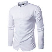 Men's Street chic Cotton Shirt - Solid Co...