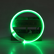 Perro Cuello Luces LED / Ajustable / Retractable / Recargable Un Color TPU Verde / Azul / Rosa