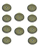 3W LEDスポットライト 48 SMD 2835 500 lm 温白色 クールホワイト 装飾用 AC 12 V 10個 GU10
