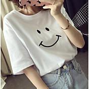 レディース カジュアル/普段着 夏 Tシャツ,シンプル ラウンドネック プリント その他 半袖