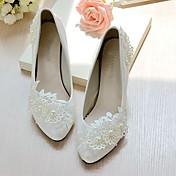 Women's Shoes Lace Leatherette Spring Fal...