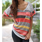 Women's Going out Casual Loose T-shirt - ...